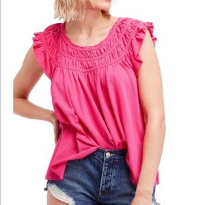 NWT We The Free Pink Coconut Ruffle Top ▪️
